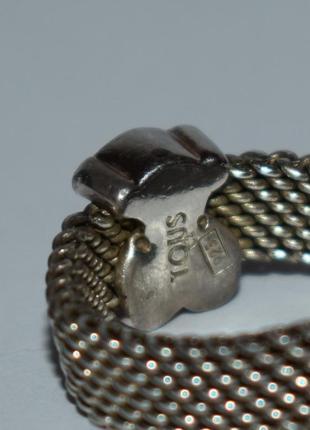 Красивое кольцо tous mesh серебро 925 проба вес 4,32 грамм оригинал4