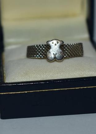 Красивое кольцо tous mesh серебро 925 проба вес 4,32 грамм оригинал2