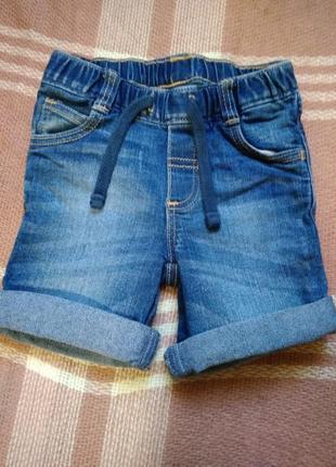 Шорты джинсовые мальчику на 12-18 месяцев