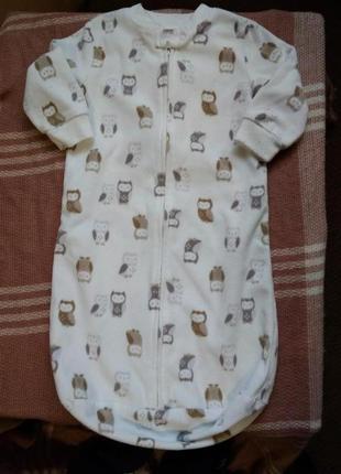Боди конверт мальчику на 0-9 месяцев