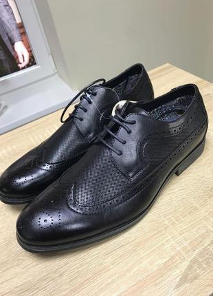 Туфли кожа мужские 40р по стельке 27,5см boohoo англия.новые