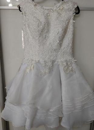 Короткое свадебное платье или выпускное