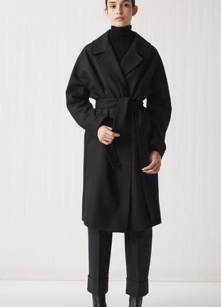 Шикарное шерстяное пальто на поясе monsoon 10-12pp