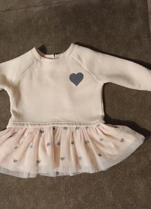 Платье для малышки 1-3мес