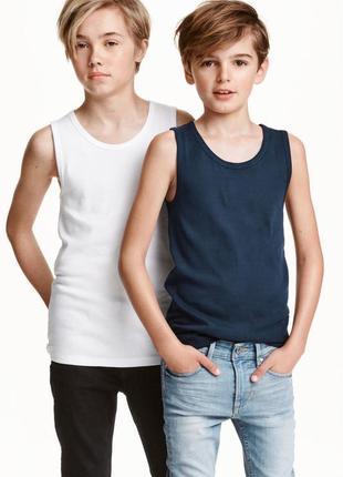 Качество отличнейшее. набор из 2  маек мальчикам от 10 до14 лет от h&m