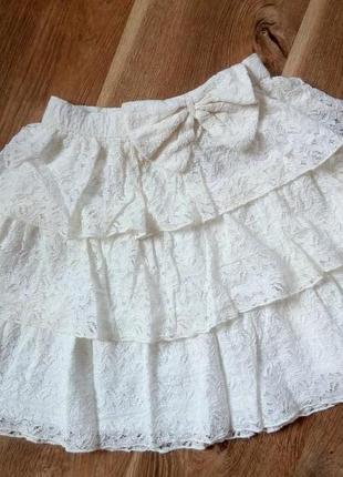 Красивая юбка кружево от tu на 10 лет