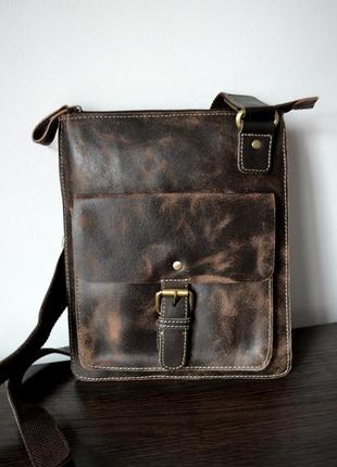 Брендовая мужская кожаная сумка английского бренда rowallan оригинал