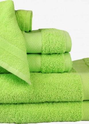 Новое банное махровое полотенце 70х140 izzihome турция салатовое