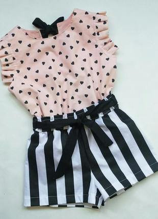 Комплект шорты и блузка