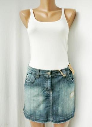 Новая стильная брендовая модная джинсовая юбка dorothy perkins. размер 14/42