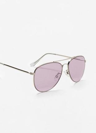 Солнцезащитные очки-авиаторы mango фиолетовые динзы1 фото