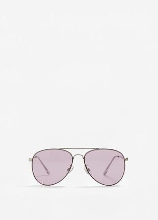 Солнцезащитные очки-авиаторы mango фиолетовые динзы2 фото