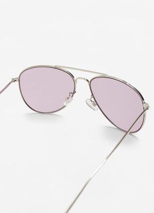Солнцезащитные очки-авиаторы mango фиолетовые динзы3 фото