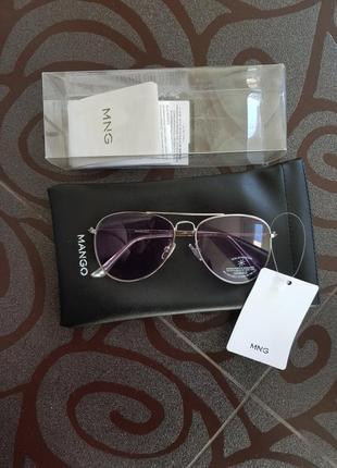 Солнцезащитные очки-авиаторы mango фиолетовые динзы4 фото