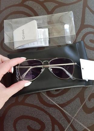 Солнцезащитные очки-авиаторы mango фиолетовые динзы5 фото