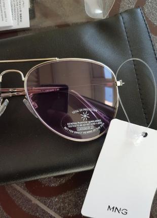 Солнцезащитные очки-авиаторы mango фиолетовые динзы6 фото