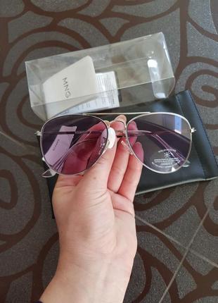 Солнцезащитные очки-авиаторы mango фиолетовые динзы7 фото
