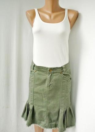 Стильная трендовая, модная коттоновая юбка united colors of benetton. размер 10/38, m.