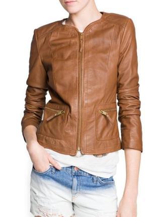 Куртка кожаная mango размер m-l