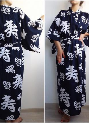 Халаты новые хлопок 100% кимоно размеры до xxl японский длинные в пол