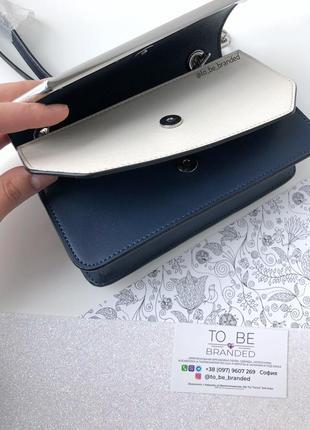 Кожаная синяя брендовая сумка ккльвин кляйн calvin klein crossbody оригинал3 фото