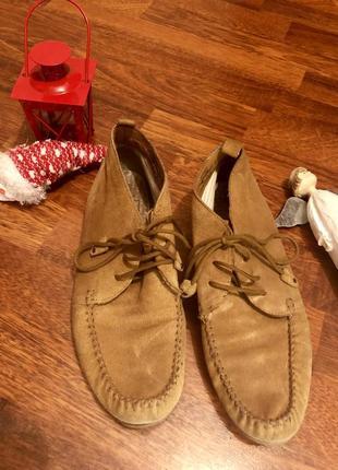 Классные легенькие ботиночки, натуральная замша 💥