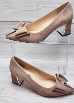 Туфли лодочки mariа moro, натуральная замша весна 2019