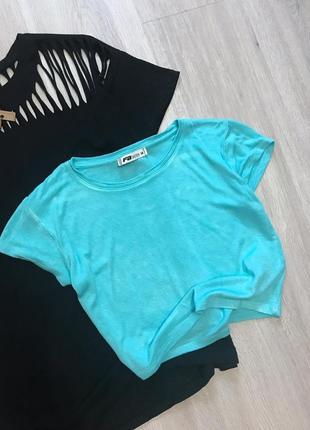 Блакитний топ футболка / голубой топ fb sister