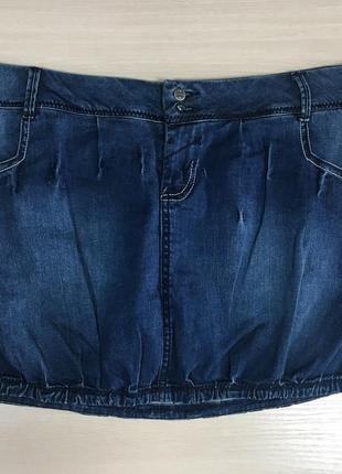 Джинсовая юбка takko fashion р. 48 (наш)1 фото