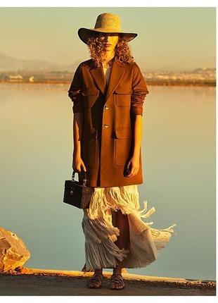 Льняное пальто zara3 фото