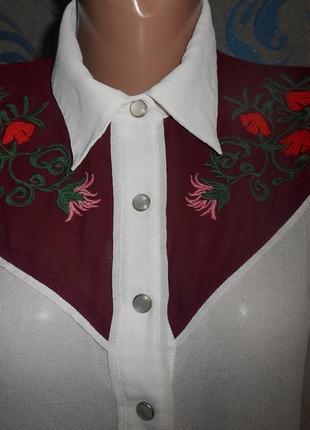 Классная рубашка с вышивкой, 10 р.