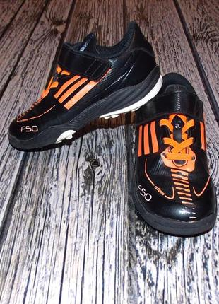 Фирменные сороконожки adidas f50 для мальчика, размер 26