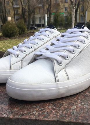 Кеды кожаные белые lacoste lerond слипоны р42 original