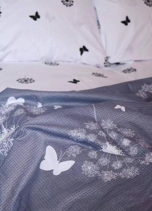 Постельное белье одуванчики и бабочки2 фото