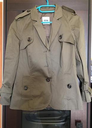 Пальто тренч moschino1 фото