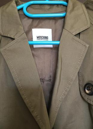Пальто тренч moschino2 фото