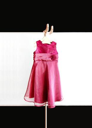 Нарядное платье с вышивкой tesco на 2-3 года / 98 см