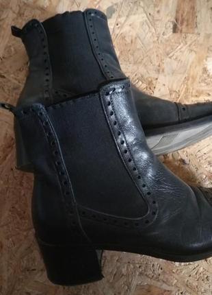 Ботинки кожаные челси демисезонные
