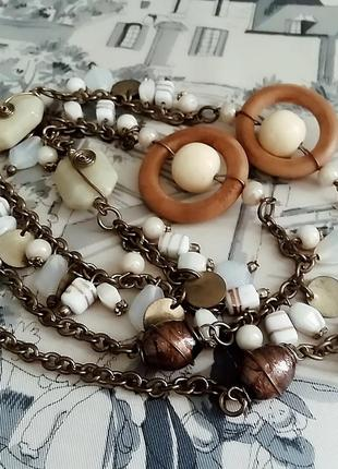 Ожерелье из натуральных камушек в этно стиле