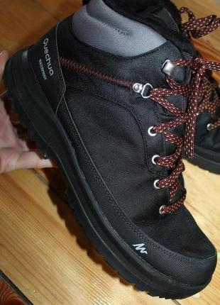 42 разм. зима. ботинки quechua waterproof. состояние новых