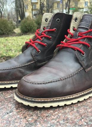 Ботинки кожаные lacoste (diesel, tommy, ralph lauren) р.43 original
