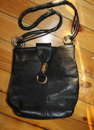 Сумка henry original leather. кожа. фурнитура золото