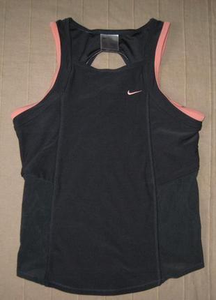 Nike dri-fit (xs/s, рост 163) спортивная эластичная майка женская
