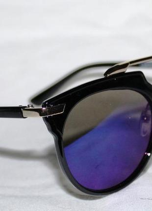 6209. очки. солнцезащитные очки. очки в стиле diorso real. зеркальные очки. синие очки