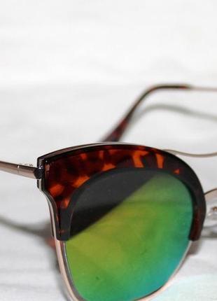 6689. солнцезащитные очки. очки в стиле louis vuitton. зеркальные очки. очки лисички