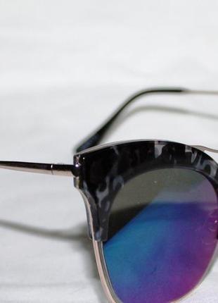 6689. очки. солнцезащитные очки. очки в стиле louis vuitton. синие очки. очки лисички