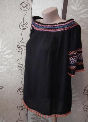 Идеальная блуза с открытыми плечами pep&co,р.14