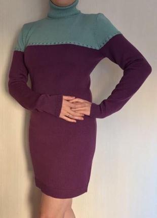 Вязаное платье, натуральная шерсть