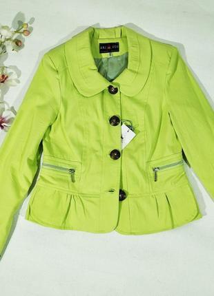 Весенний салатовый пиджак