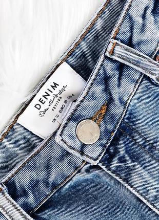 Крутая стильная джинсовая юбка с порезами на высокой посадке от miss selfridge9 фото